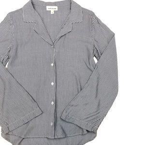 Cloth & Stone Pinstriped Button Down Shirt